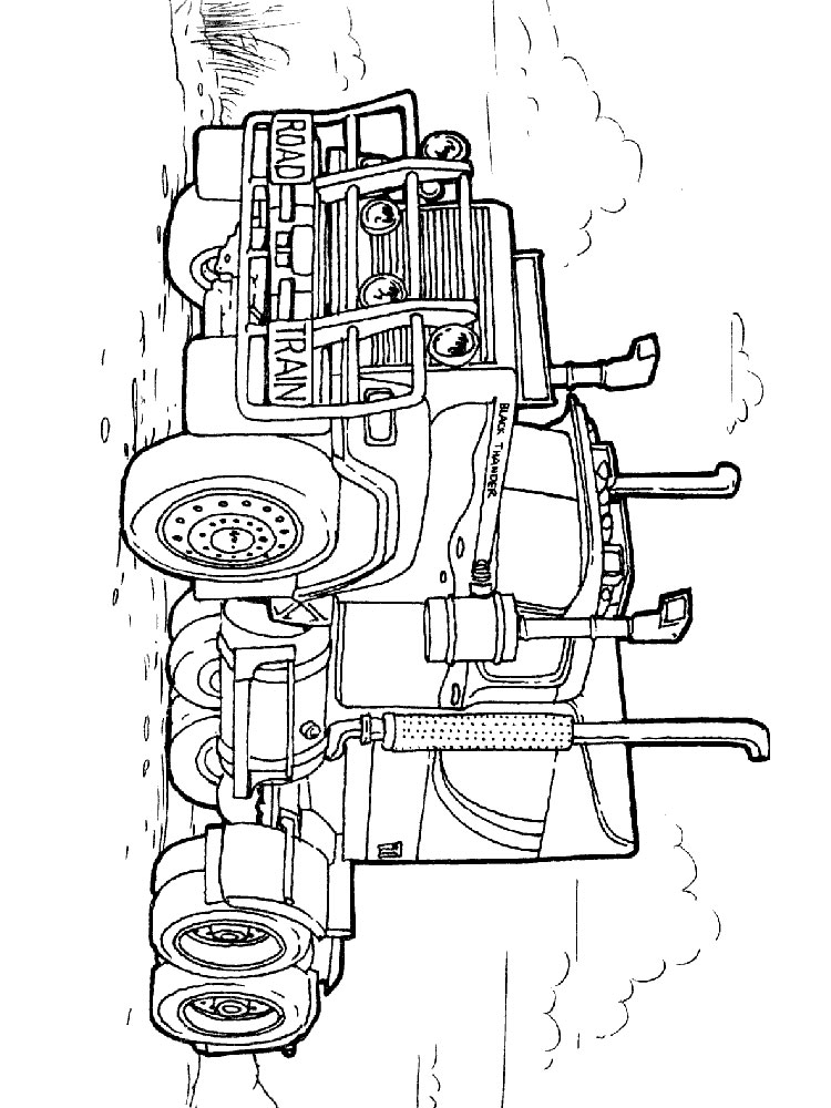 Semi Truck coloring pages. Free Printable Semi Truck ...