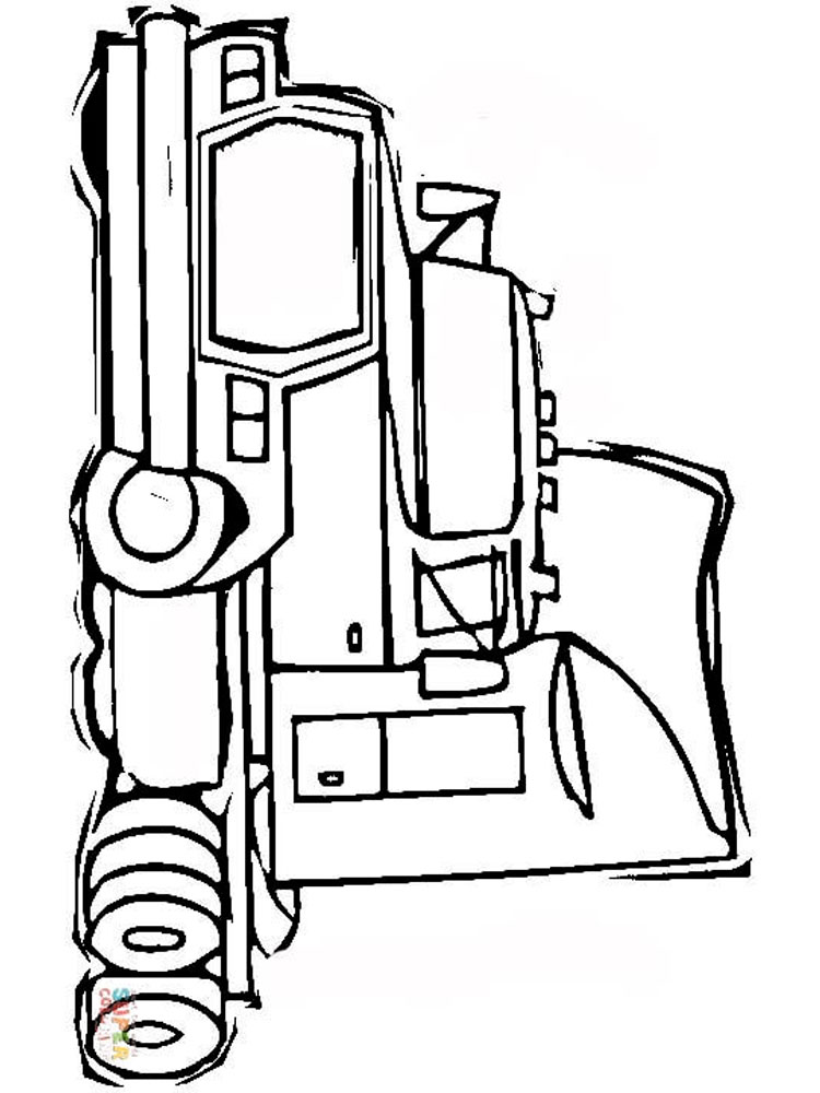Semi Truck coloring pages Free Printable Semi Truck