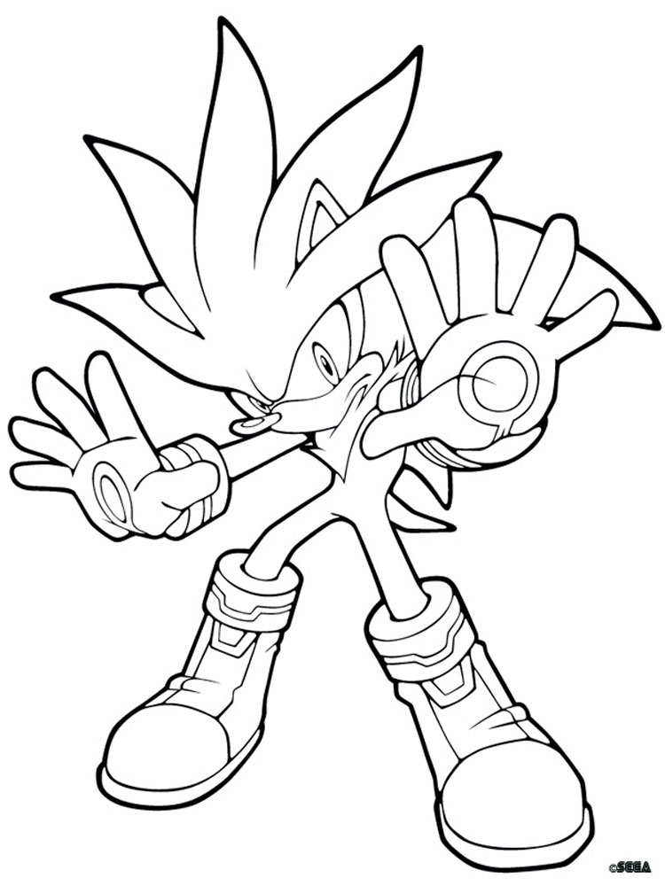Shadow The Hedgehog Coloring Pages. Free Printable Shadow