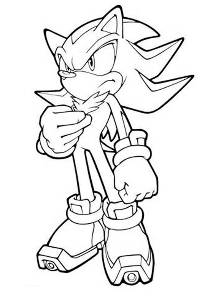 Shadow the Hedgehog coloring pages. Free Printable Shadow the ...