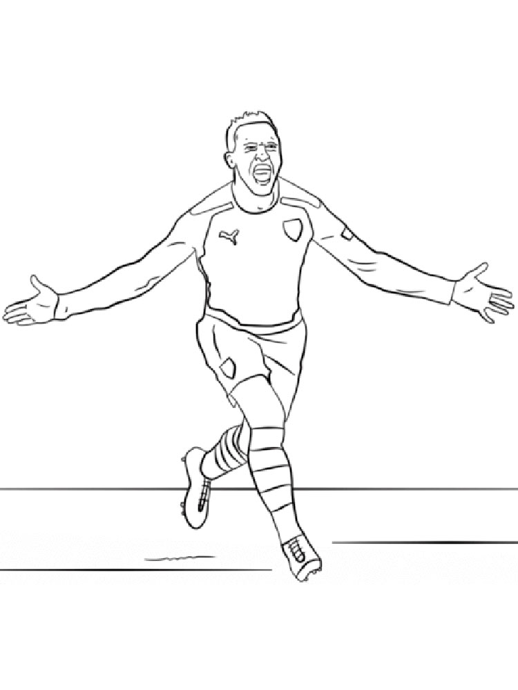 Soccer Player coloring pages. Free Printable Soccer Player ...