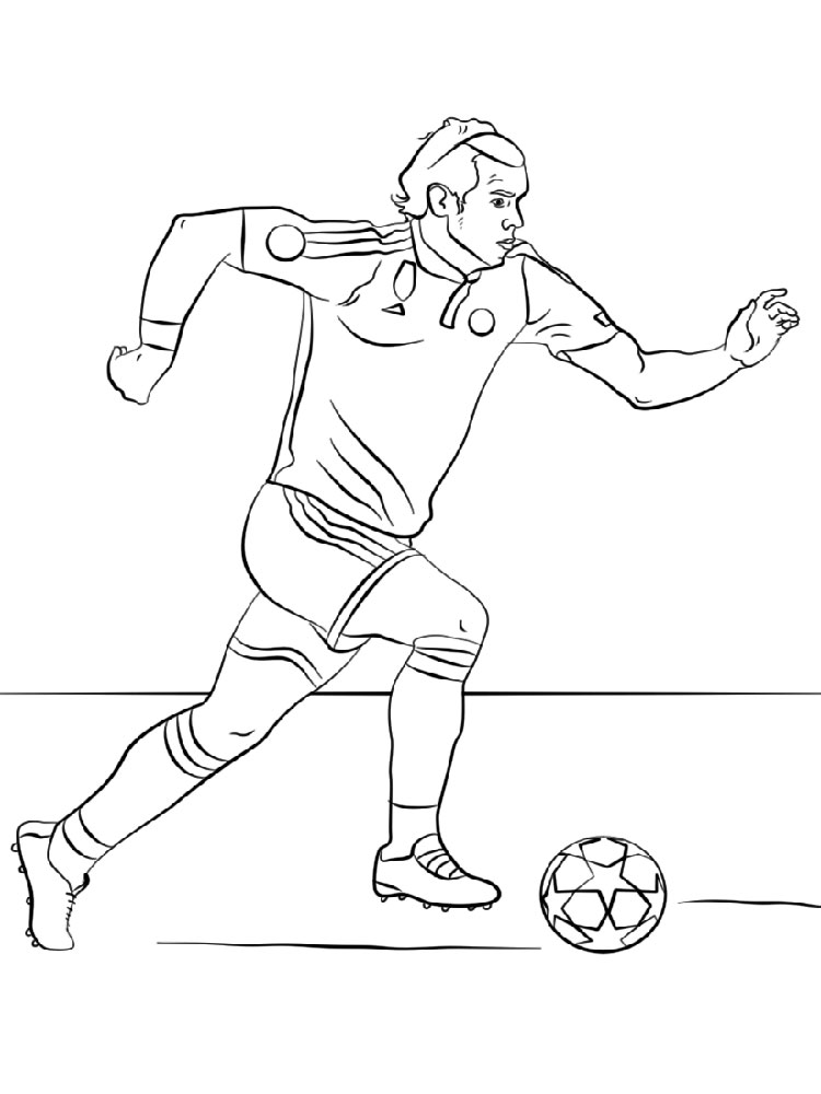 Soccer player coloring pages free printable soccer player for Soccer coloring pages to print