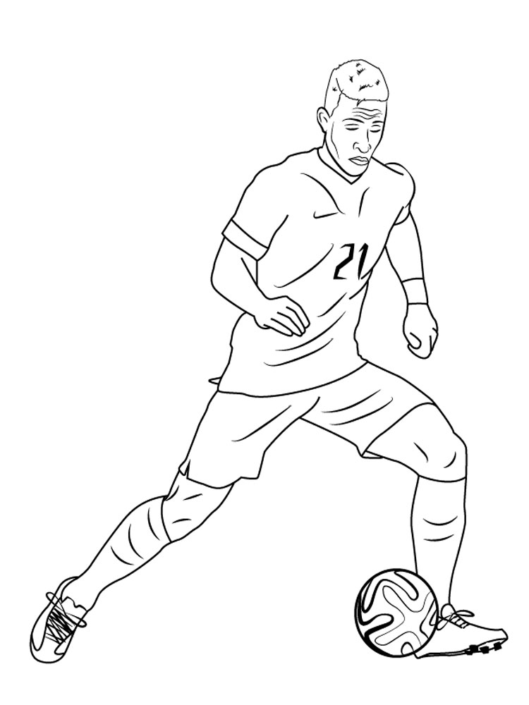 Soccer Player coloring pages Free