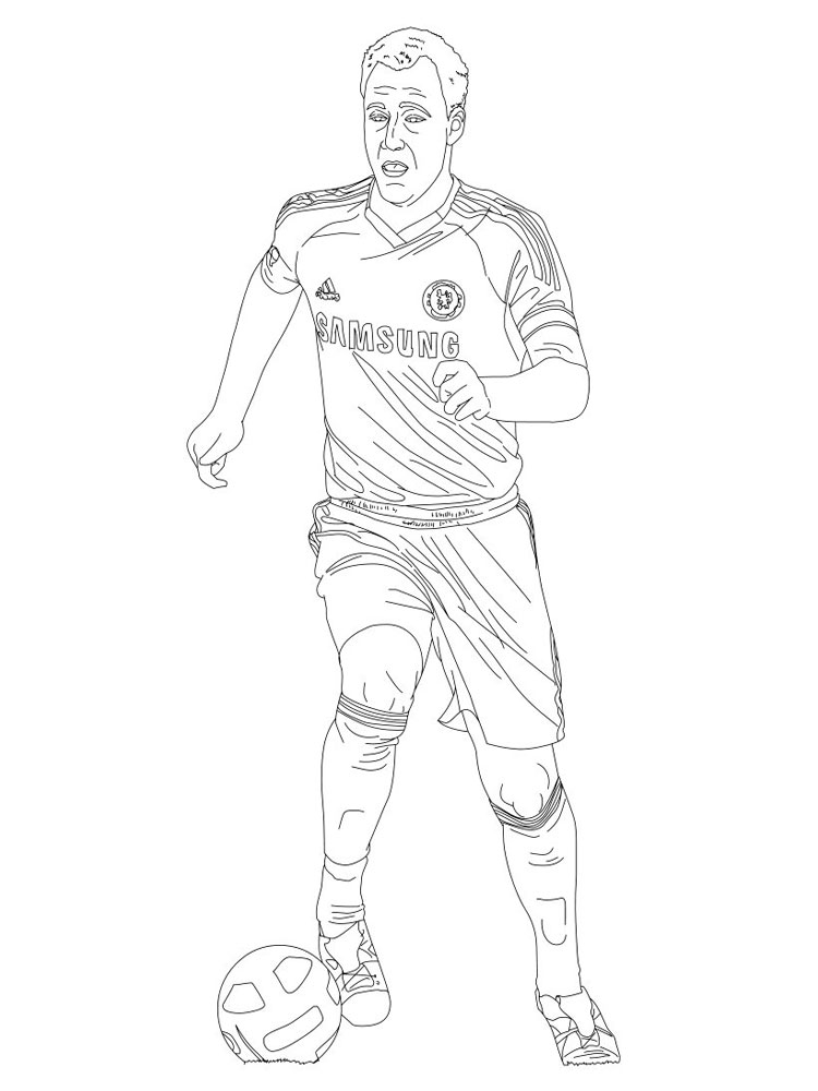 Soccer Player Coloring Pages Free Printable Soccer Player