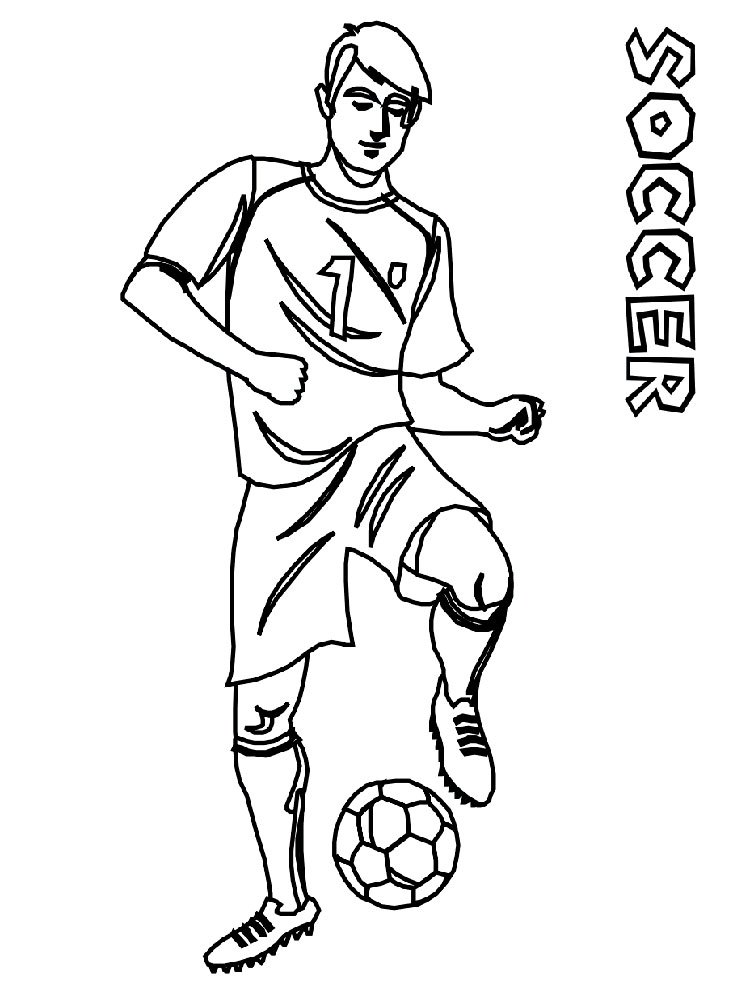 soccer player coloring pages - photo#32