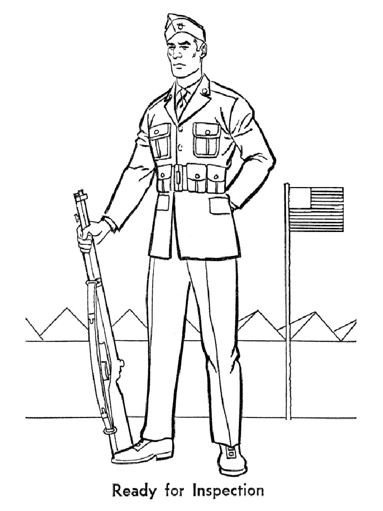 Soldier coloring pages Free Printable