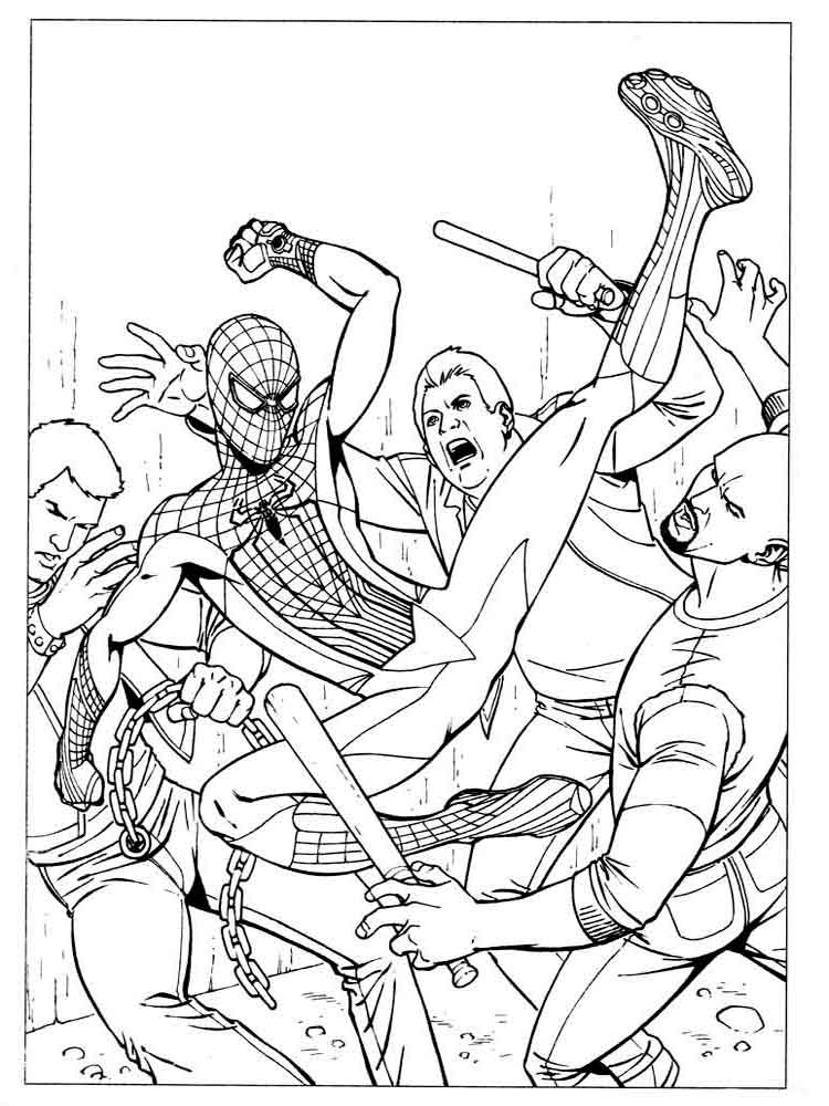 Spider man coloring pages Download