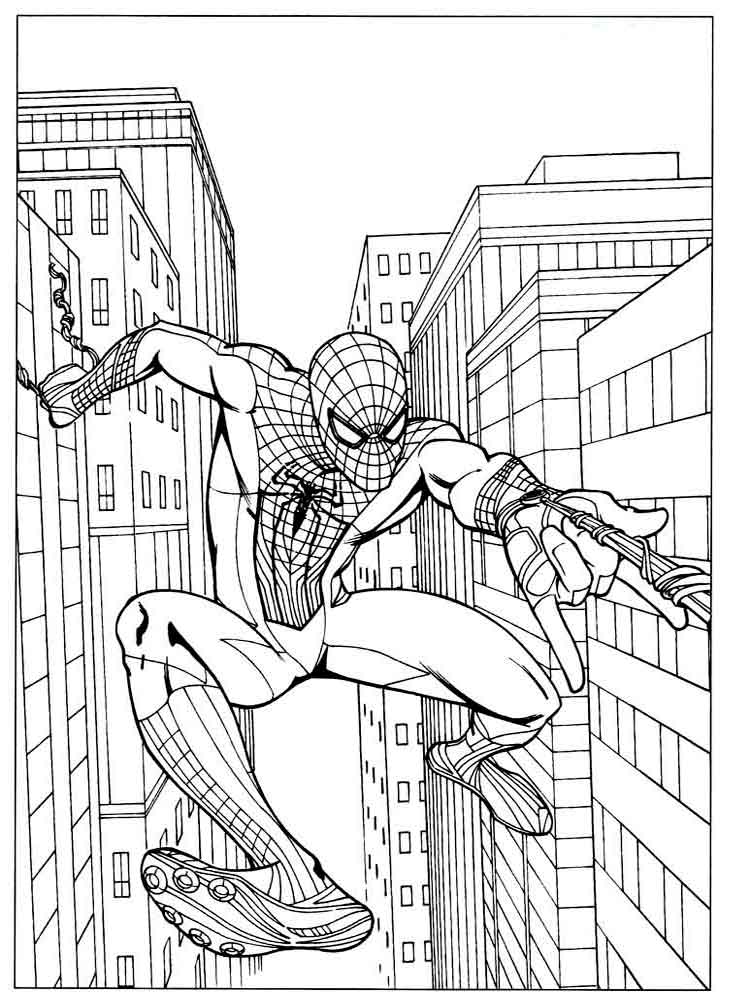 spiderman coloring pages 17 - Spiderman Coloring Page