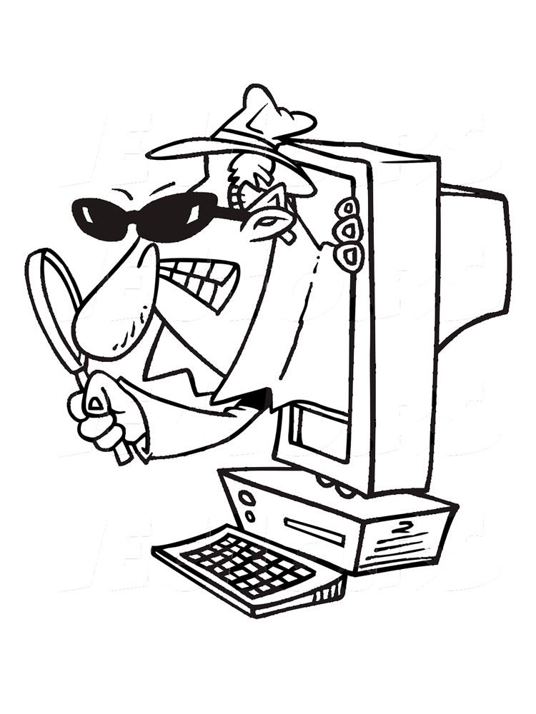 This is an image of Satisfactory Spy Coloring Pages