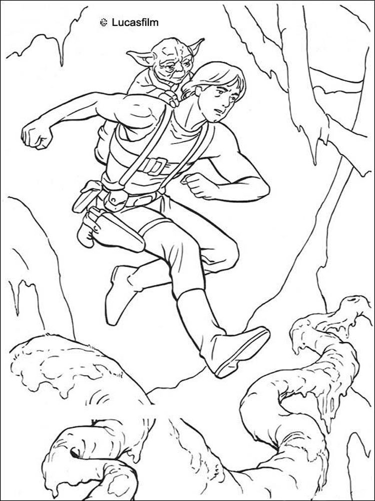 Star Wars Yoda coloring pages. Free Printable Star Wars ...