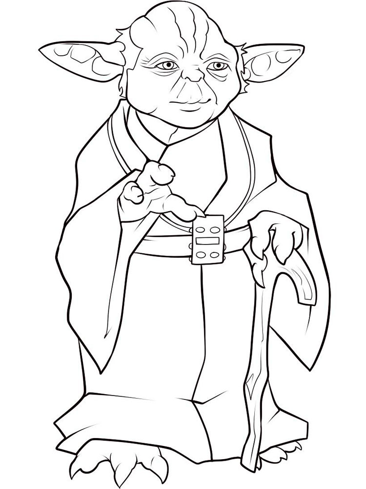 Star Wars Yoda Coloring Pages For Boys 2