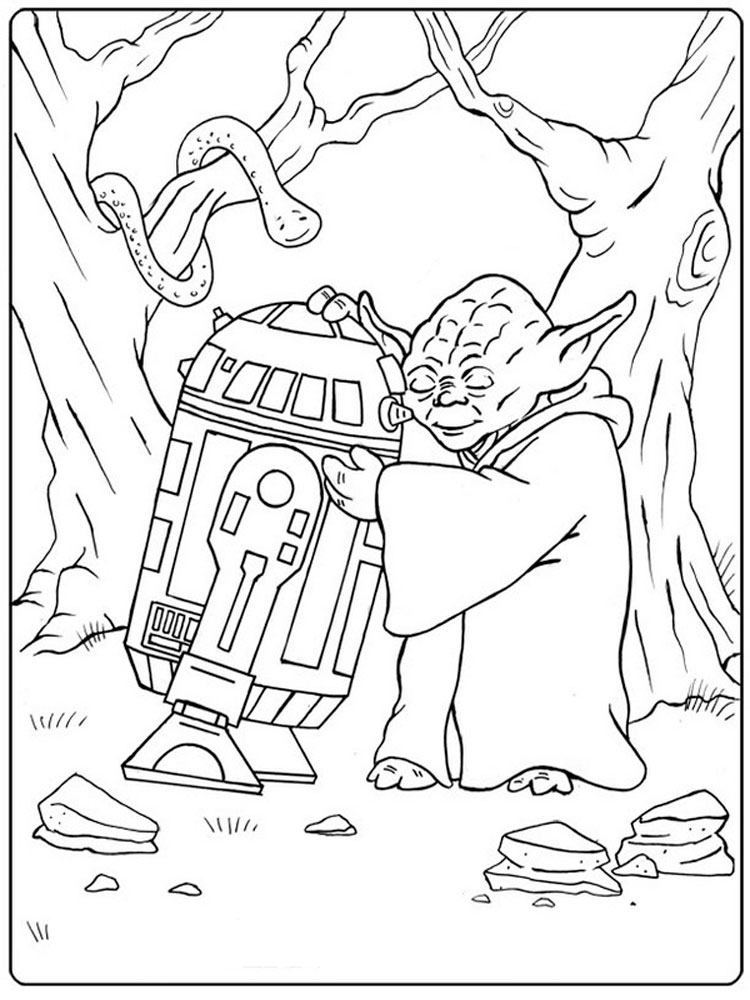Star Wars Yoda coloring pages. Free Printable Star Wars ...