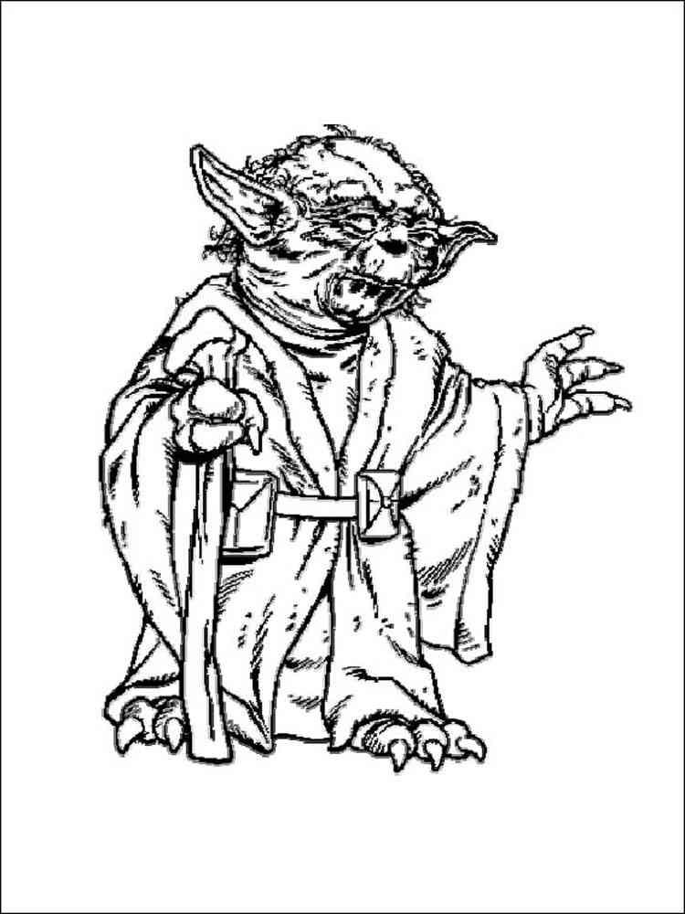 Star Wars Yoda Coloring Pages Free Printable Star Wars