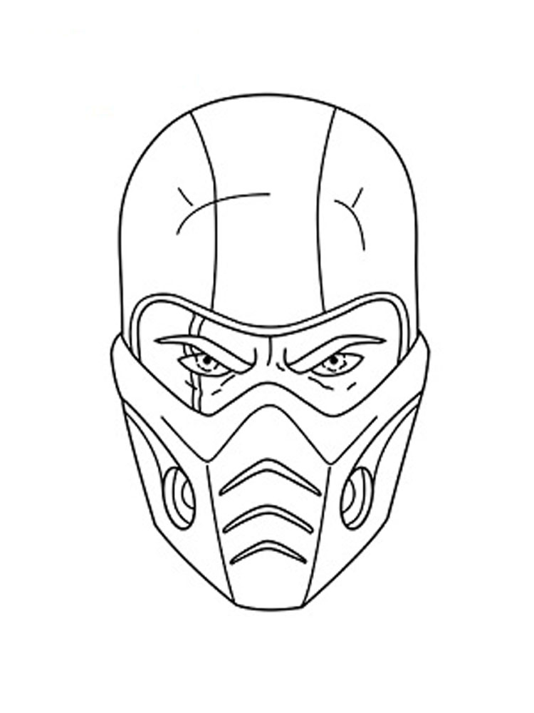 Sub Zero coloring pages Free Printable