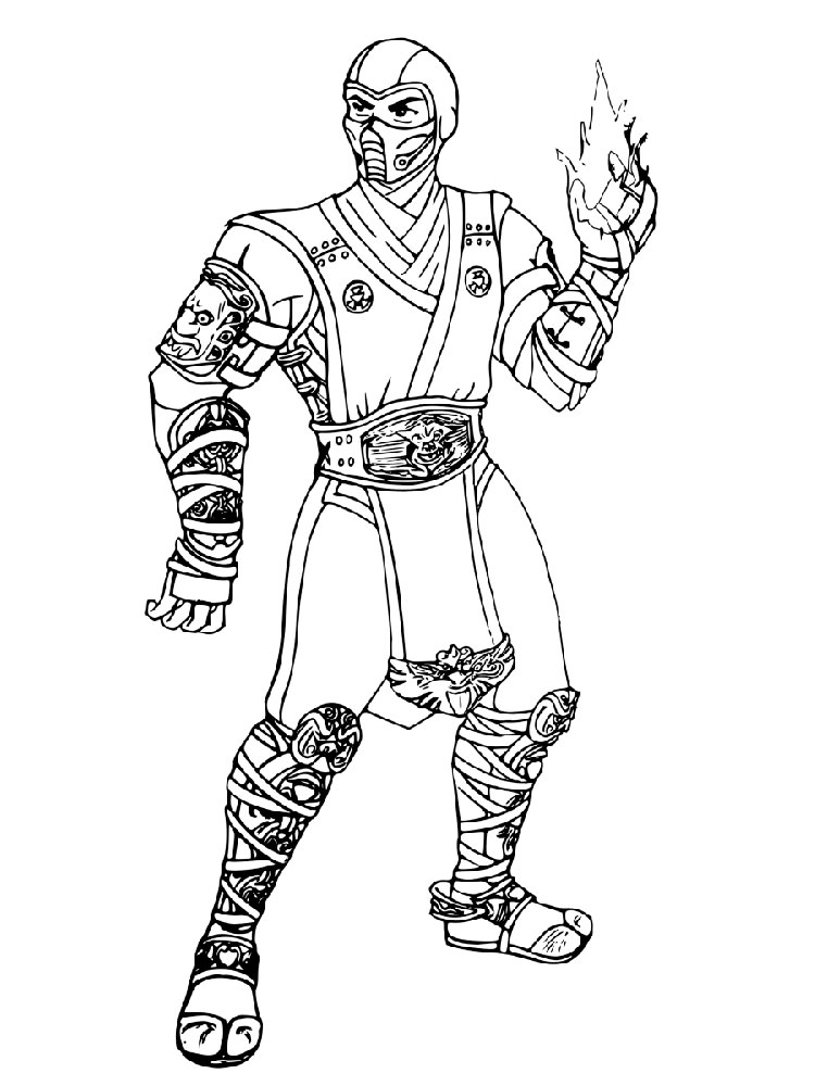 Sub Zero Coloring Pages Free Printable Sub Zero Coloring