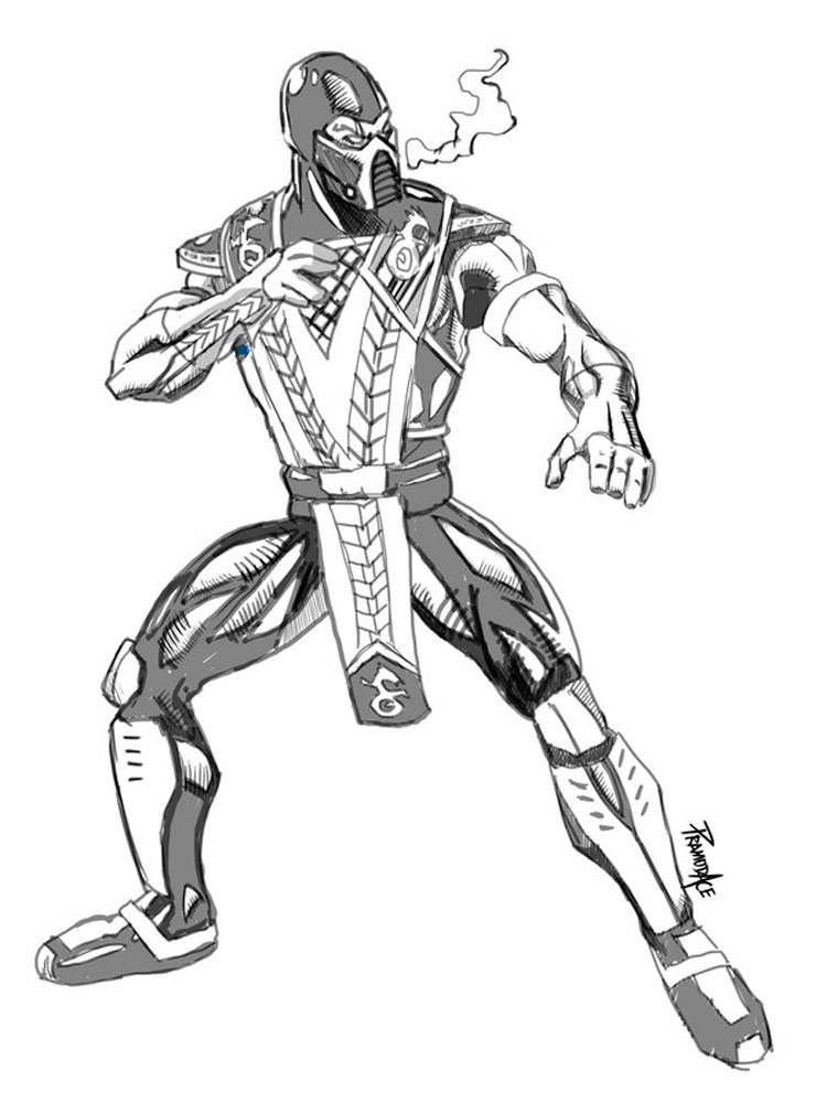 Sub Zero Coloring Pages Free Printable Sub Zero Coloring Pages