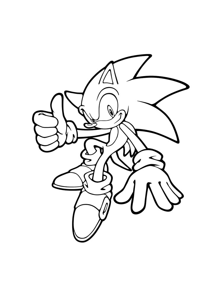 Super Sonic coloring pages Free