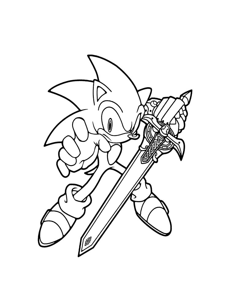 Super Sonic Coloring Pages Free Printable Super Sonic Coloring Pages