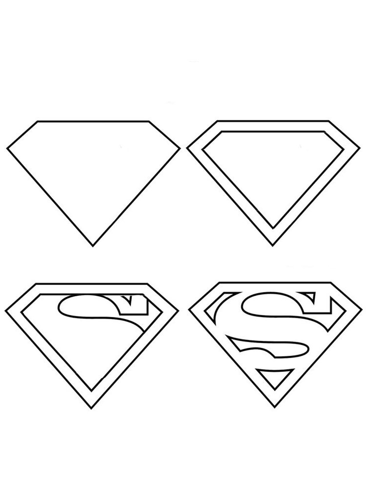 superman logo printable coloring pages | Superman Logo coloring pages. Free Printable Superman Logo ...