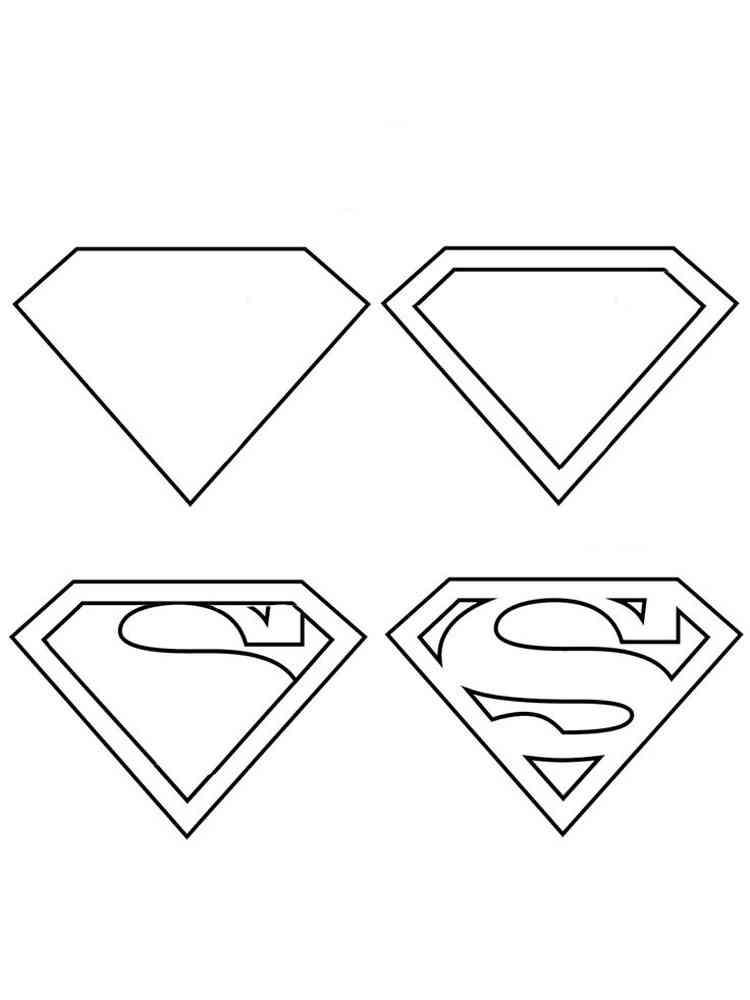 Superman Logo coloring pages. Free Printable Superman Logo ...