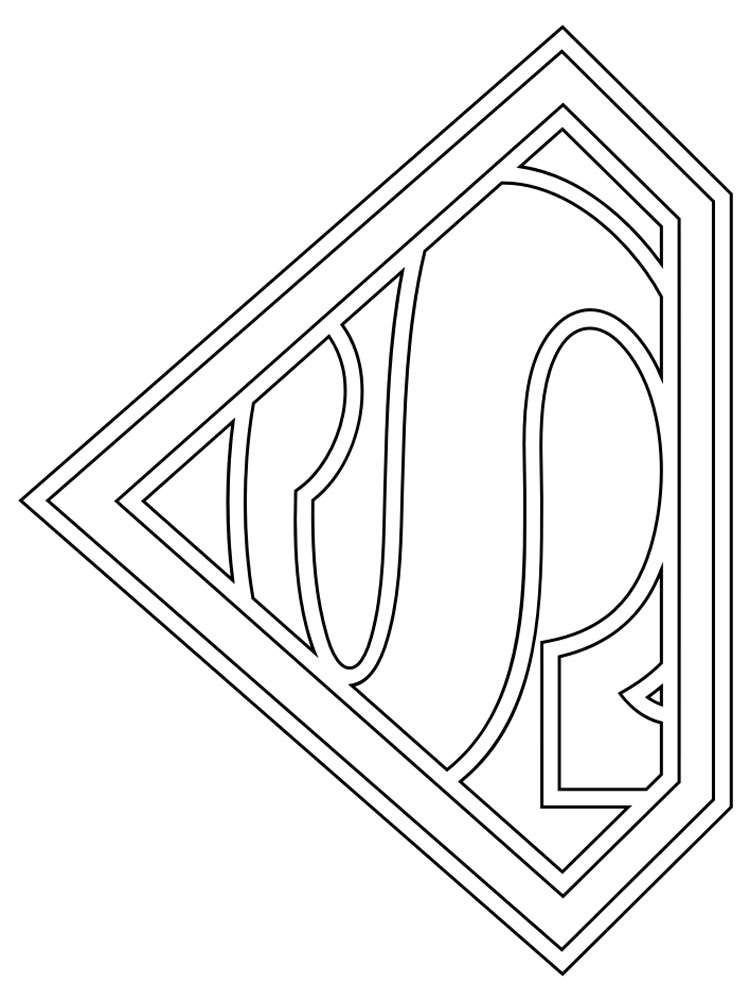 Superman Logo coloring pages Free Printable Superman Logo coloring