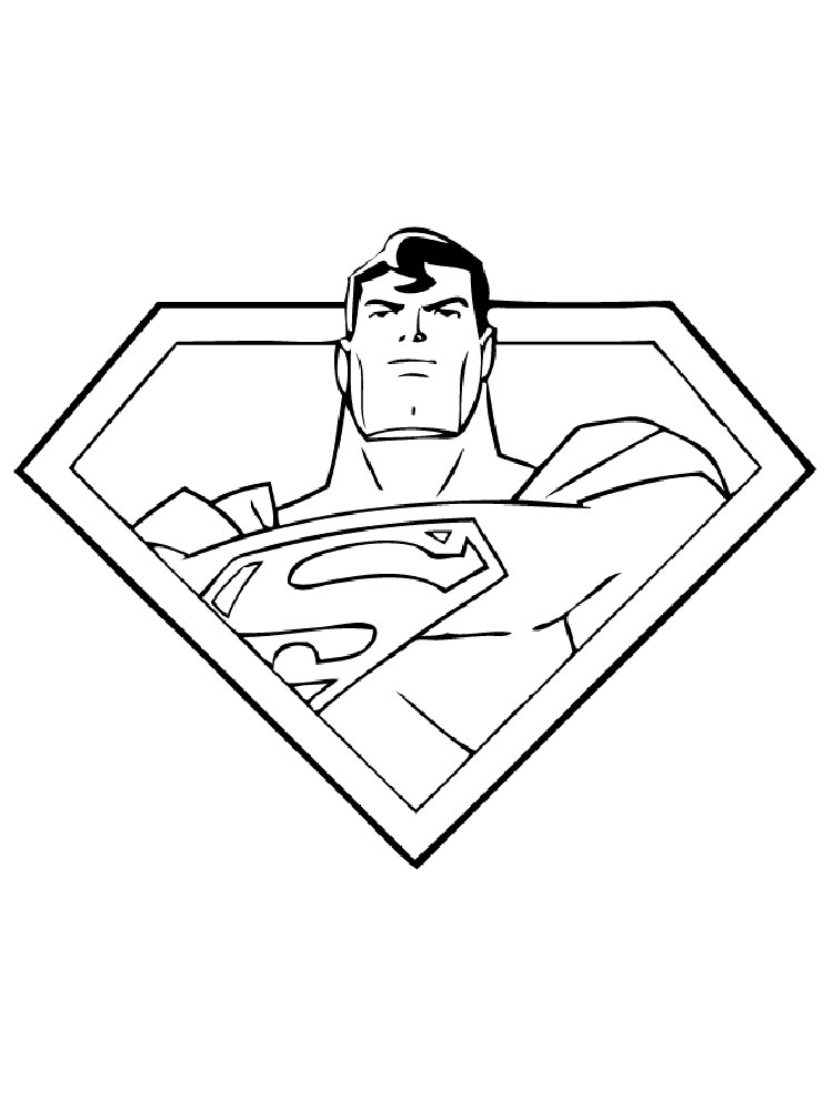 Superman Logo Coloring Pages Free Printable Superman Logo Coloring Pages