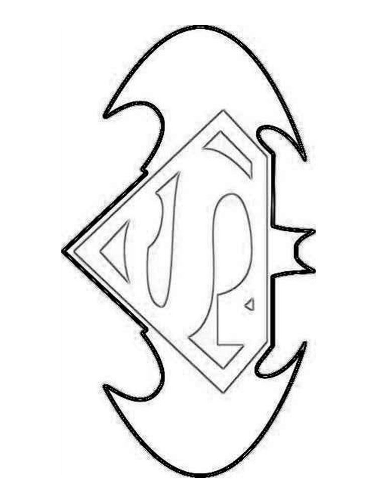 superman coloring pages free printables logo | Superman Logo coloring pages. Free Printable Superman Logo ...