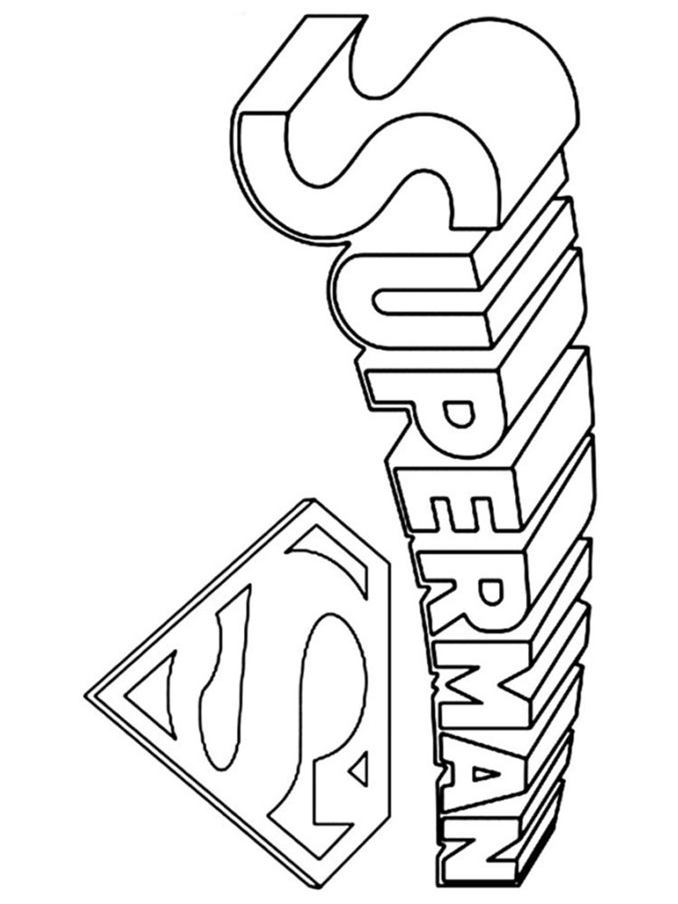 Superman Logo coloring pages Free Printable Superman Logo