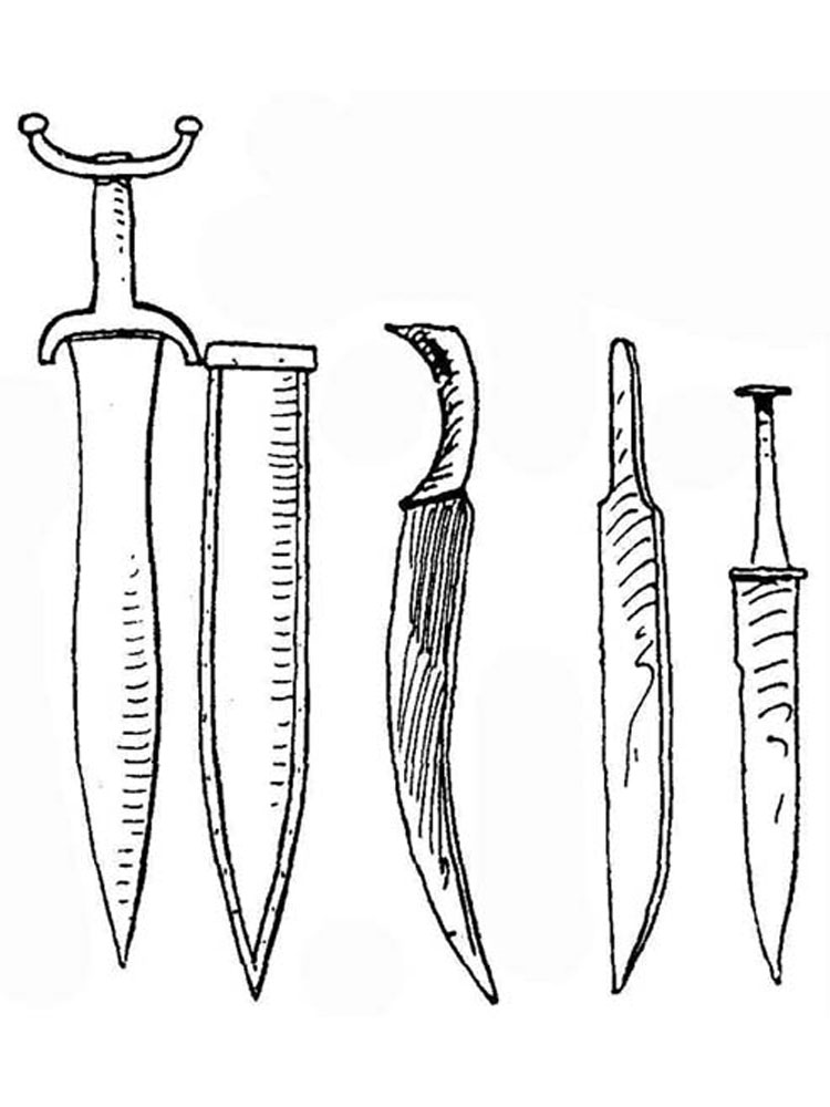 Sword Coloring Pages Free Printable Sword Coloring Pages