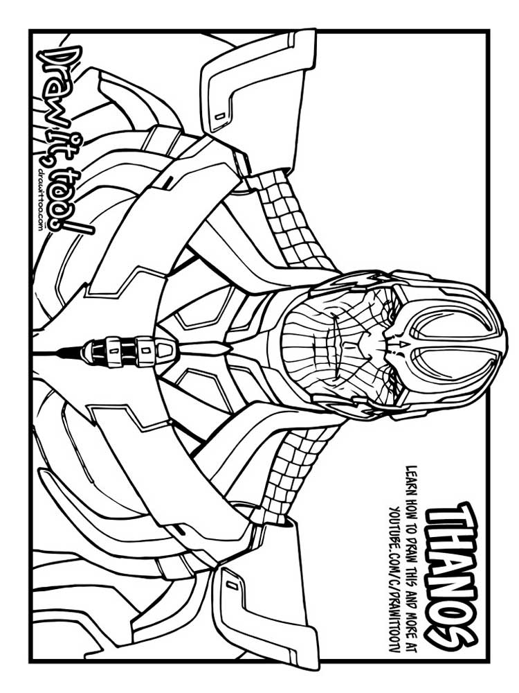 Thanos printable coloring pages ~ Thanos coloring pages. Free Printable Thanos coloring pages.