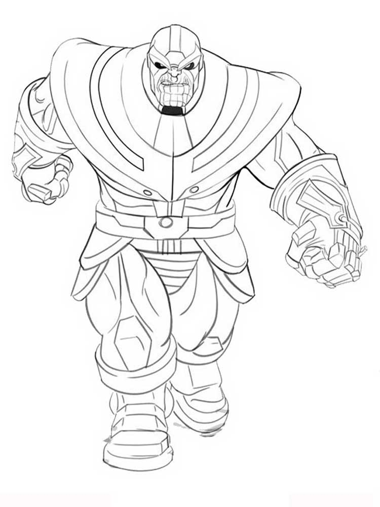 Thanos coloring pages. Free Printable Thanos coloring pages.