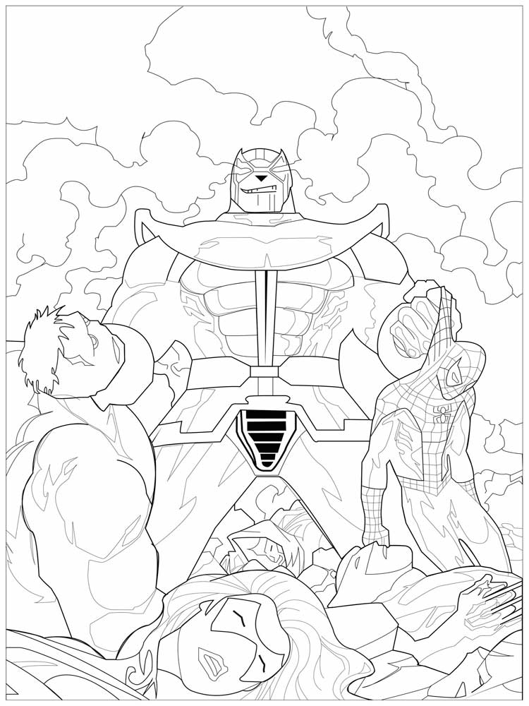 Thanos Coloring Pages Free Printable Thanos Coloring Pages