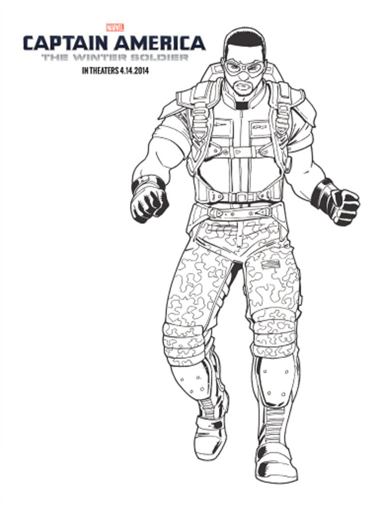 The Winter Soldier Coloring Pages Free Printable The