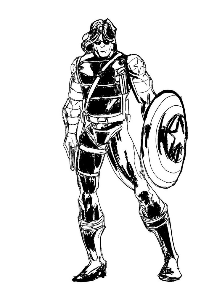 The Winter Soldier coloring pages. Free Printable The ...