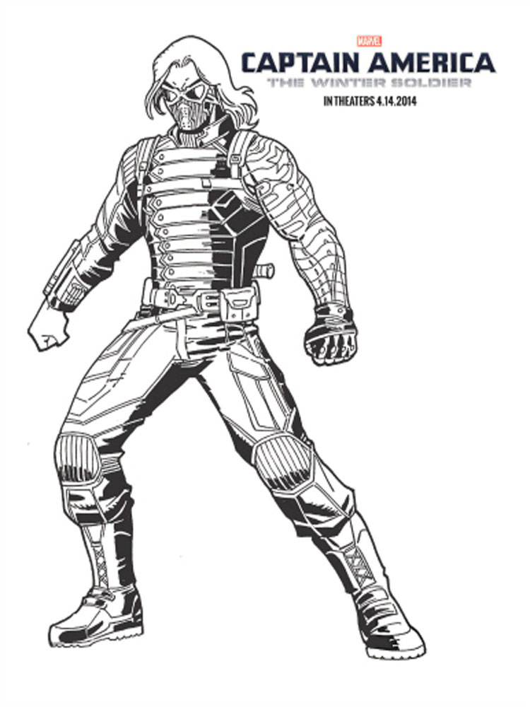 The Winter Soldier coloring pages
