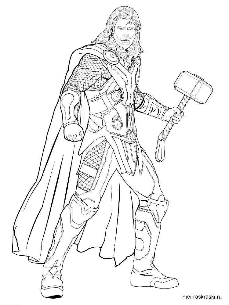 Thor Coloring Pages Free Printable Thor Coloring Pages