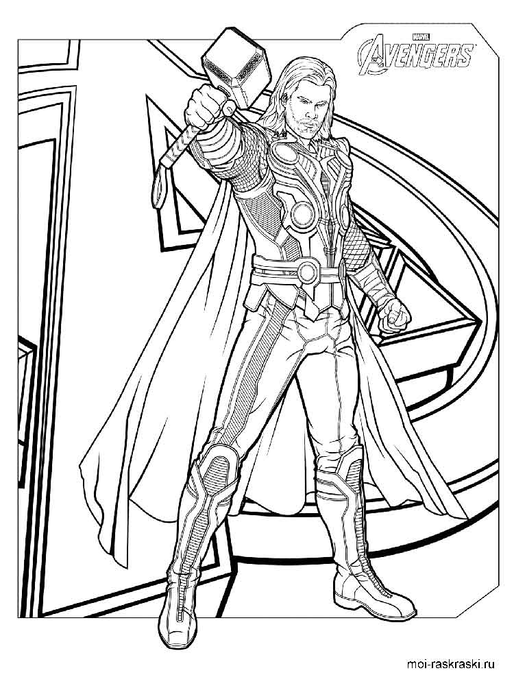 Thor coloring pages. Free Printable Thor coloring pages.