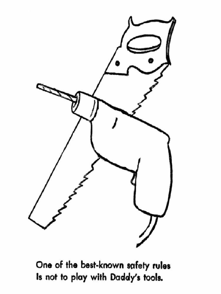 pliers coloring page - tool coloring pages free printable tool coloring pages