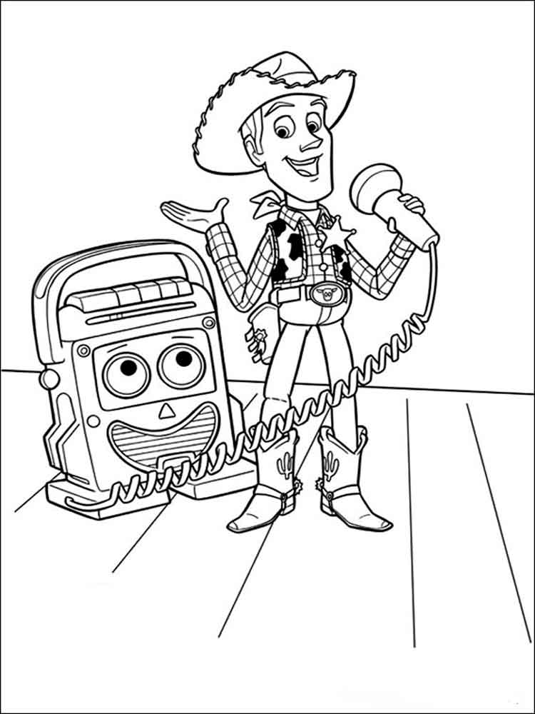 Free printable Toy story coloring pages.