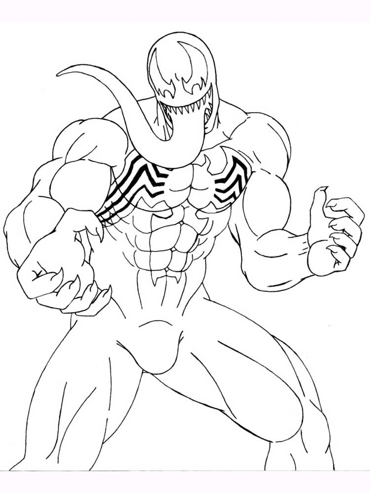 Venom Coloring Pages Draw It Too | Coloring pages, Drawings, Color | 1000x750