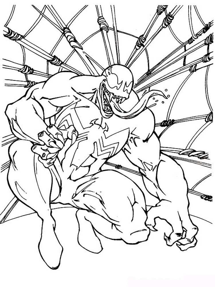 Venom coloring pages Download