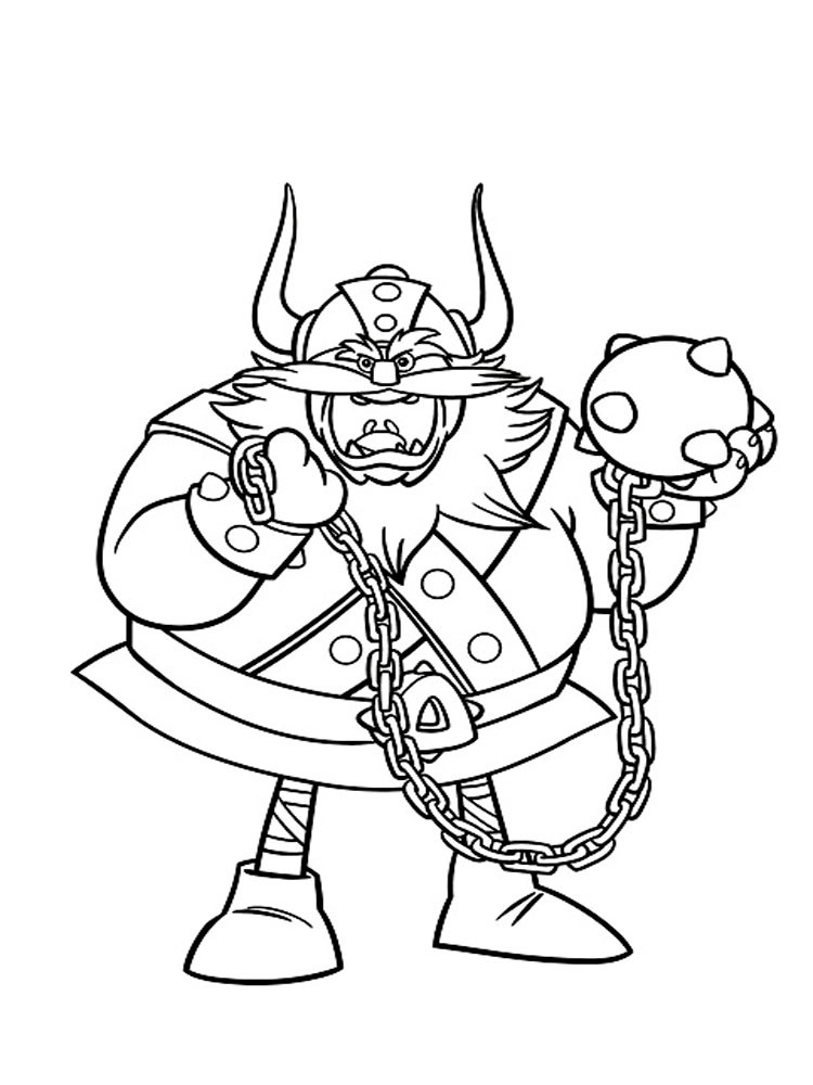 Viking coloring pages Free Printable