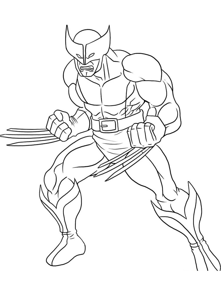 Wolverine Coloring Pages Free Printable Wolverine