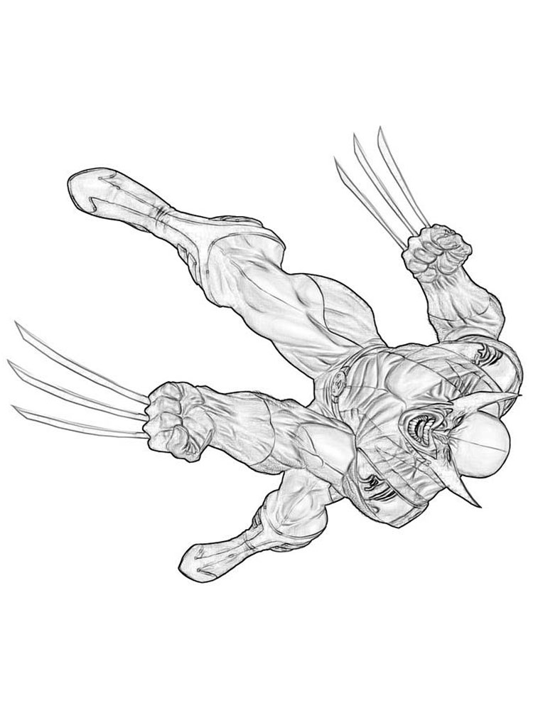 Wolverine coloring pages. Free Printable Wolverine ...
