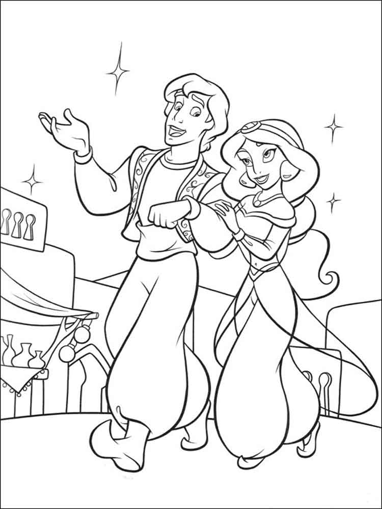 Aladdin coloring pages. Download and print Aladdin ...