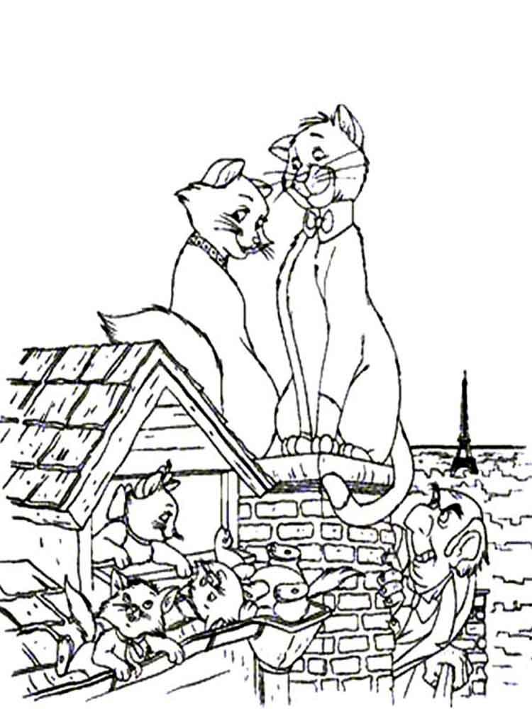 The Aristocats Coloring Pages Download And Print The