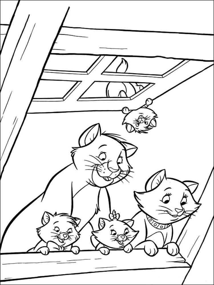 disney aristocats coloring pages print - photo#27