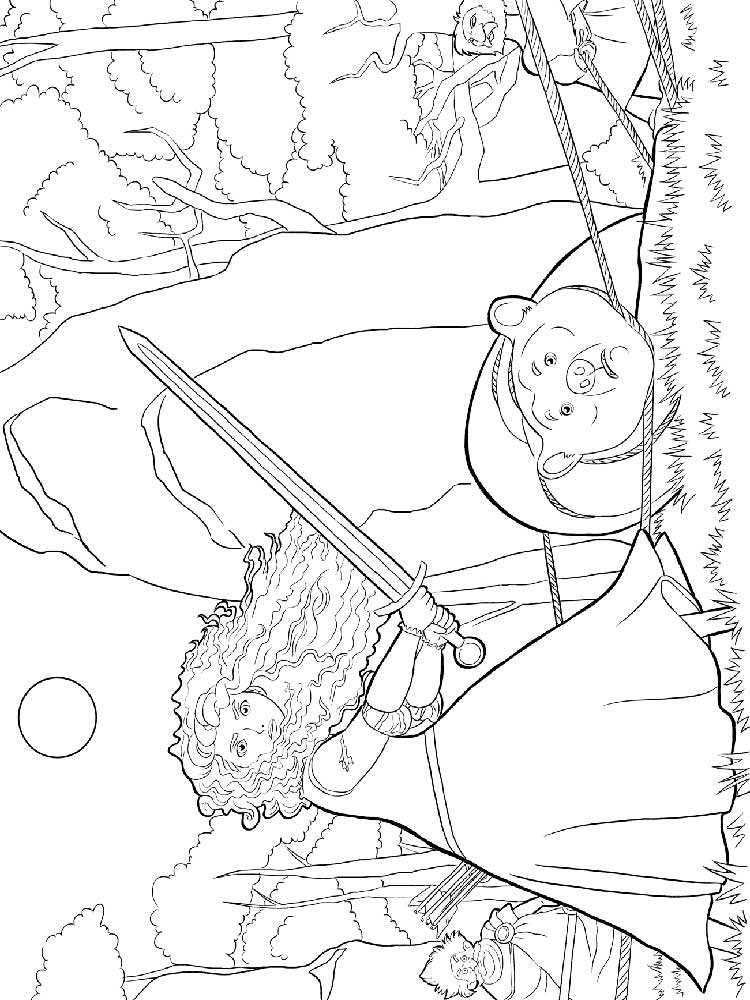 Brave coloring pages. Free Printable Brave coloring pages.