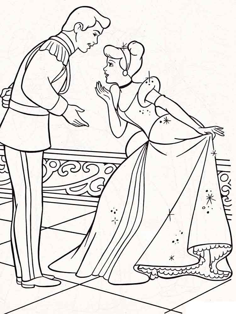 cinderella coloring pages 23