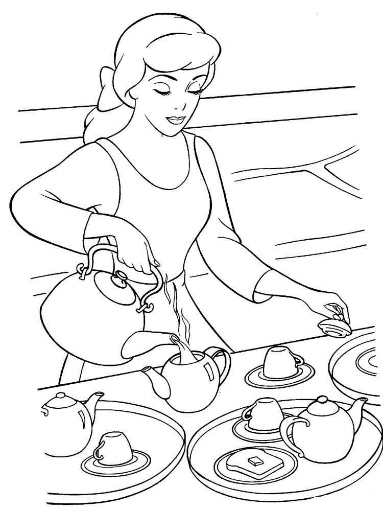 Cinderella coloring pages download and print cinderella for Cinderella coloring pages online
